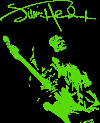 Принт Килимок для миші Jimi Hendrix афтограф - FatLine