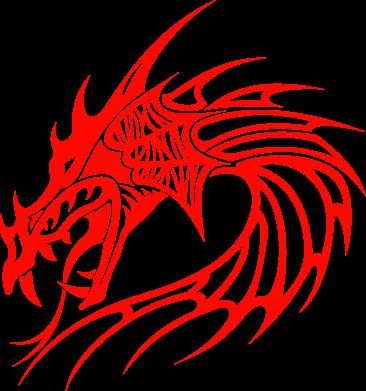 Принт Подушка Dragon - FatLine