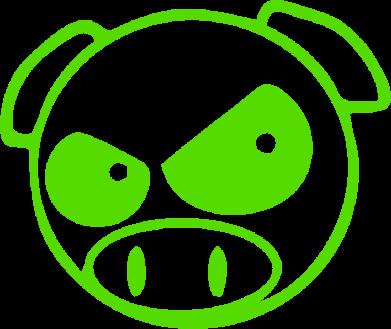 Принт Штаны Злая свинка - FatLine