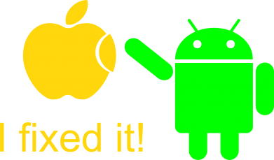 Принт Женская майка I fixed it! Android - FatLine
