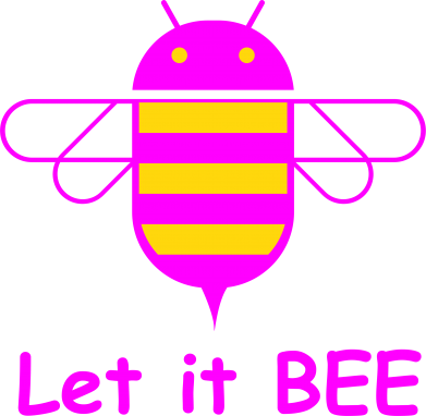 Принт Подушка Let it BEE Android - FatLine