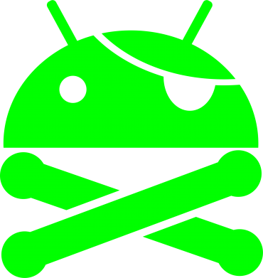 Принт Футболка Поло Android Pirate - FatLine