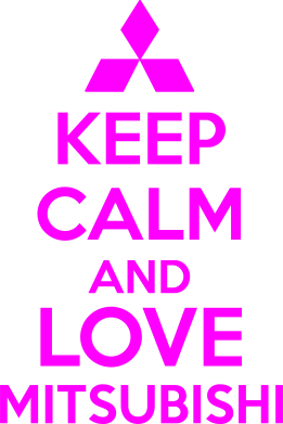 Принт Толстовка Keep calm an love mitsubishi - FatLine