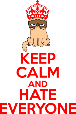 Принт Футболка Поло KEEP CALM and HATE EVERYONE - FatLine