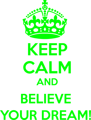 Принт Реглан KEEP CALM and BELIVE YOUR DREAM - FatLine