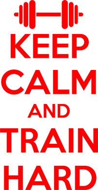 Принт Фартук KEEP CALM and TRAIN HARD - FatLine
