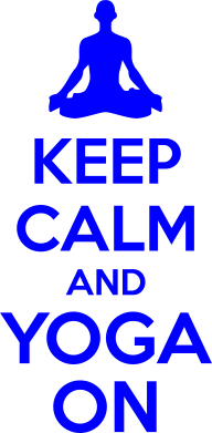 Принт Футболка KEEP CALM and YOGA ON - FatLine