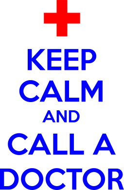 Принт Футболка Поло KEEP CALM and CALL A DOCTOR - FatLine