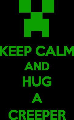 Принт Мужская толстовка KEEP CALM and HUG A CREEPER, Фото № 1 - FatLine