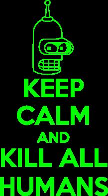 Принт Футболка Поло KEEP CALM and KILL ALL HUMANS - FatLine