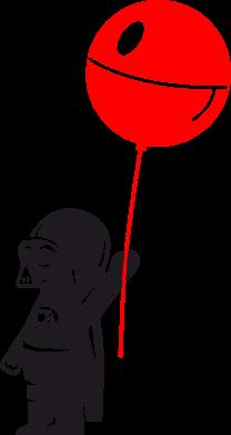 Принт Подушка Дарт Вейдер с шариком - FatLine