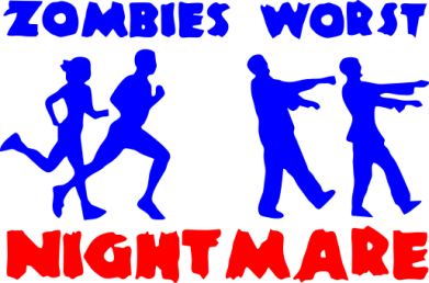 Принт Подушка Zombies the worst night mare - FatLine