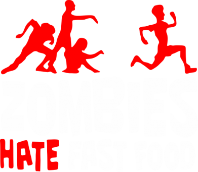 Принт Майка-тельняшка Zombies hate fast food - FatLine