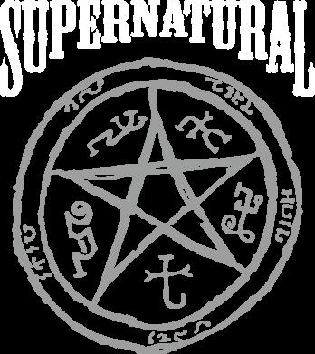 Принт Женская футболка Supernatural круг - FatLine