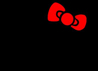 Принт Фартук Hello Kitty logo - FatLine