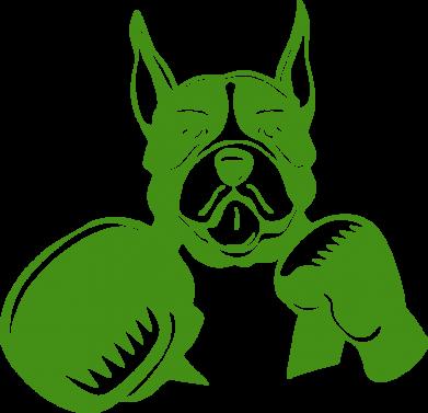 Принт Подушка Собака в боксерских перчатках - FatLine