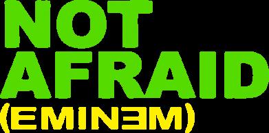 Принт Мужская майка Eminem Not Afraid - FatLine