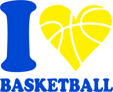 Принт Кружка 320ml I love basketball - FatLine