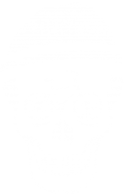 Принт Мужская футболка  с V-образным вырезом Череп велосипедиста - FatLine