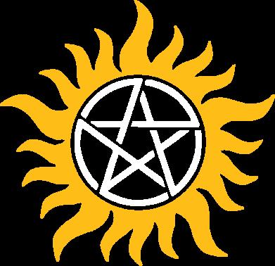 Принт Реглан Сверхъестественное Star - FatLine