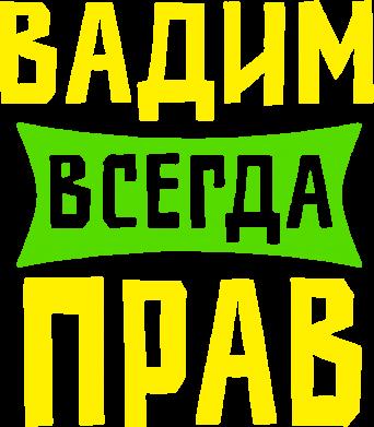 Принт Реглан Вадим всегда прав - FatLine