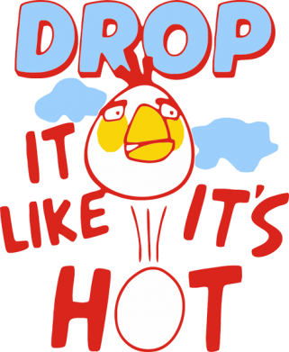 Принт Реглан Drop it like it's hot - FatLine