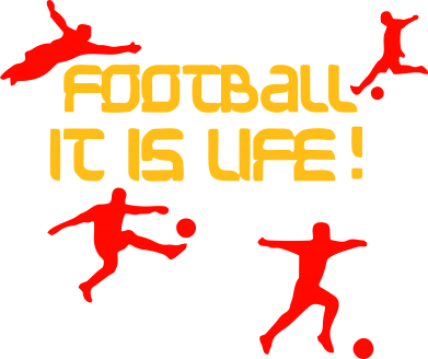 Принт Футболка Football is my life - FatLine