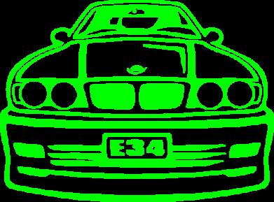 Принт Детская футболка BMW E34 - FatLine