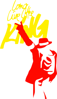 Принт Футболка Поло King MJ - FatLine