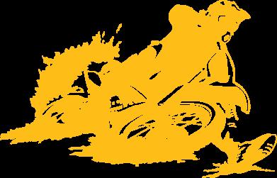 Принт Футболка Мотокросс лого - FatLine