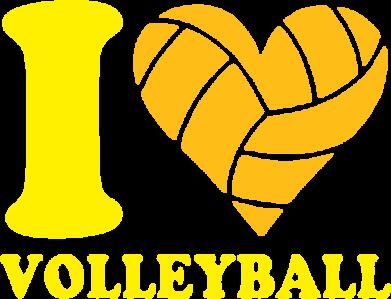 Принт Мужская майка I love volleyball - FatLine
