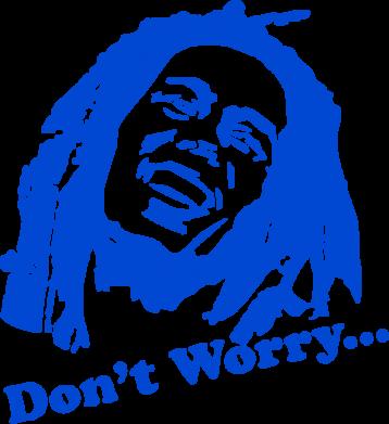 Принт Сумка Don't Worry (Bob Marley) - FatLine