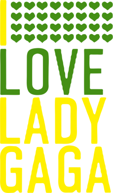 Принт кепка I love Lady Gaga - FatLine