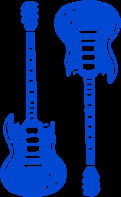 Принт Коврик для мыши Две гитары - FatLine
