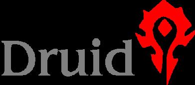 Принт Мужская футболка  с V-образным вырезом Druid Orc - FatLine