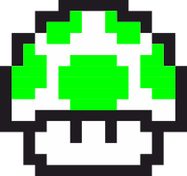 Принт Футболка Гриб Марио в пикселях - FatLine