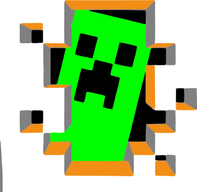 Принт Коврик для мыши Minecraft 3D - FatLine