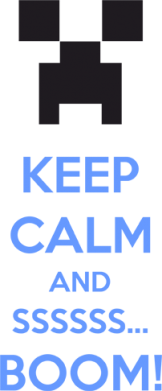 Принт Женская футболка Keep calm and ssssssss...BOOM! - FatLine