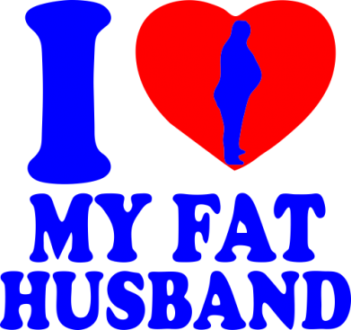 Принт Подушка I love my fat husband - FatLine