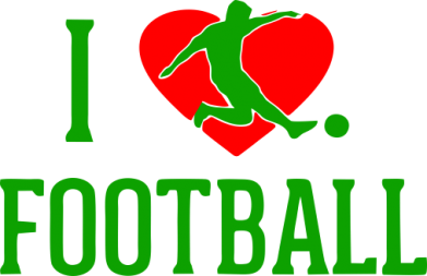 Принт Мужская майка I love football - FatLine