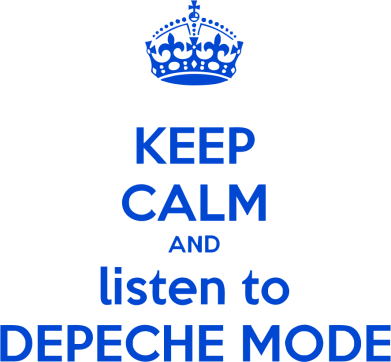 Принт Футболка KEEP CALM and LISTEN to DEPECHE MODE - FatLine