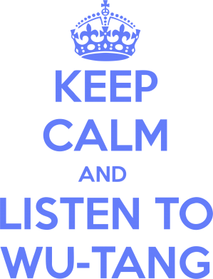 Принт Мужская майка KEEP CALM and LISTEN to WU-TANG - FatLine