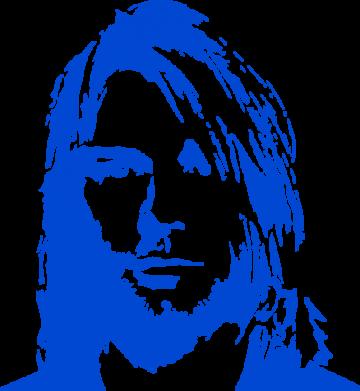 Принт Мужская майка Портрет Курта Кобейна - FatLine