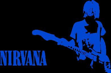 Принт Чоловіча толстовка Гітарист Nirvana, Фото № 1 - FatLine