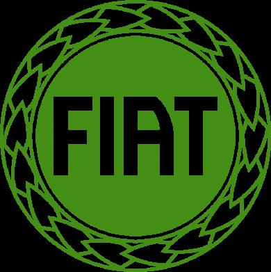 Принт Подушка Fiat logo - FatLine