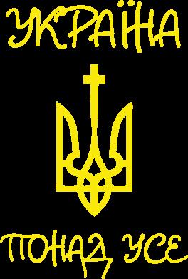 Принт Мужская толстовка на молнии Україна понад усе! (з гербом) - FatLine