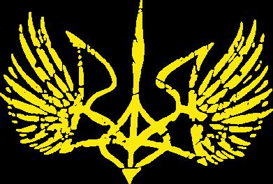 Принт Камуфляжная футболка Герб з крилами - FatLine