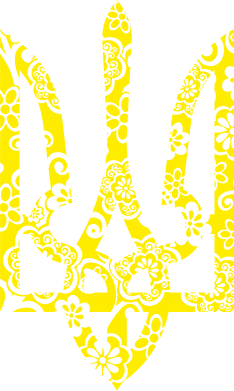 Принт Женская футболка поло Герб з візерунками - FatLine