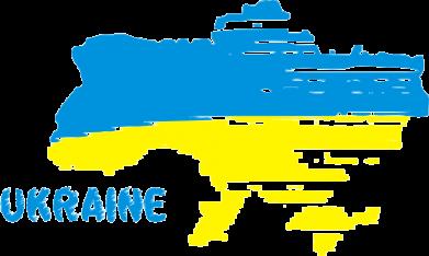 Принт Мужская майка Карта України з написом Ukraine - FatLine