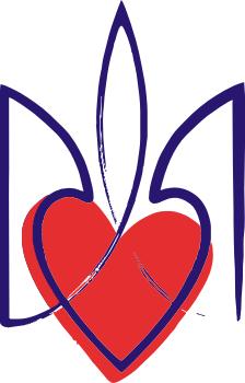 Принт Подушка Серце з гербом - FatLine